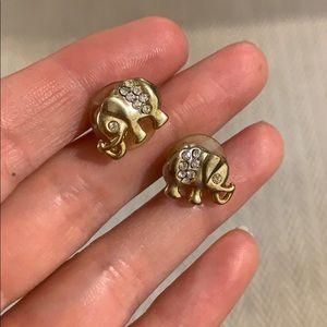 BUNDLE ITEM: gold elephant earrings